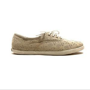Vintage Keds Gray Eyelet Champion Sneaker Shoe